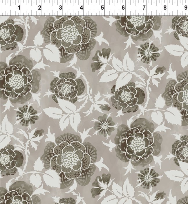 Bohemian Manor II - Large Rose - Taupe