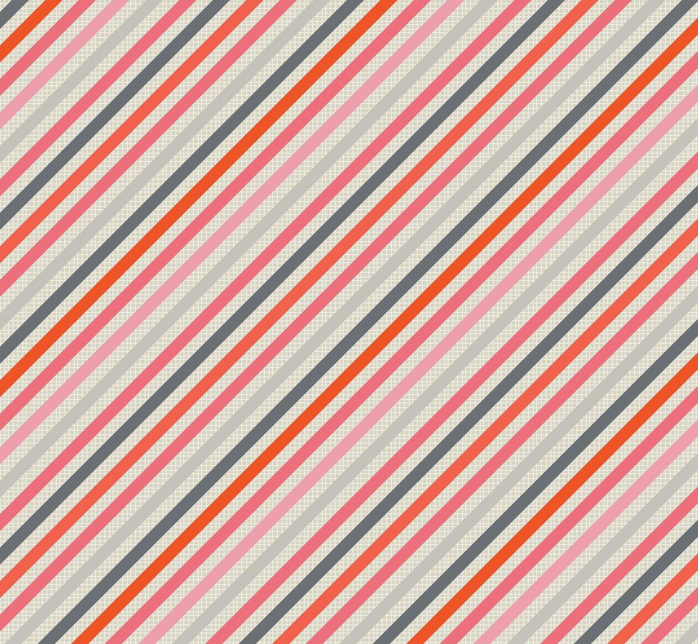 Beach House - Stripes - Coral