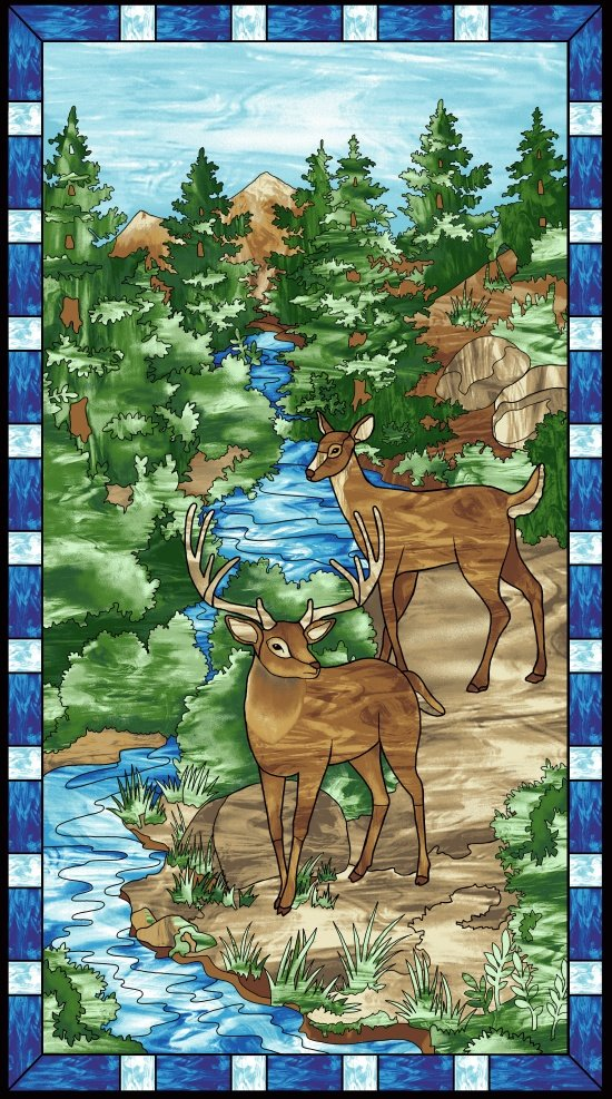 Mosaic Forest Panel