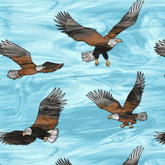 Mosaic Forest - Flying Eagles (Remnant: 2-1/8 yds)