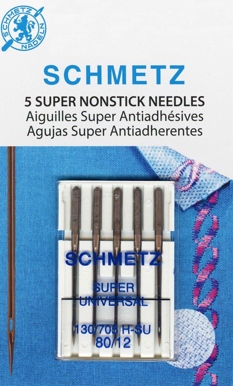 Schmetz Super Nonstick Needle 5ct, Size 80/12 - 4502