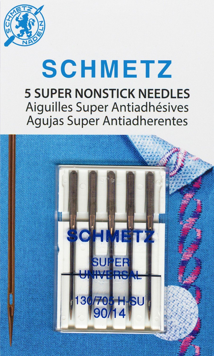 Schmetz Super Nonstick Needle 5ct, Size 90/14 - 4503