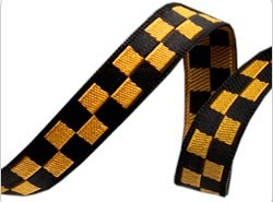 Black & Gold Checkerboard - 3/8