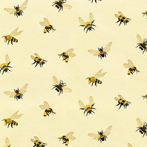 Bee A Keeper - Allover Bees - Cream