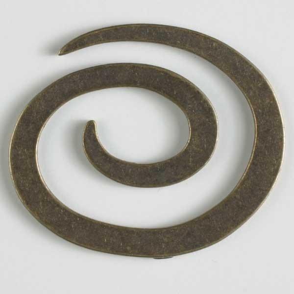 Antique Metal Spiral Closure