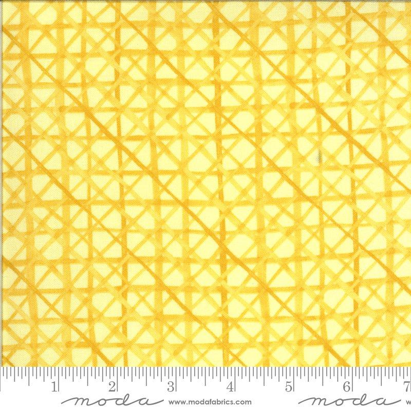 Solana - Criss Cross - Buttercup (Remnant: 1-3/4 yds)
