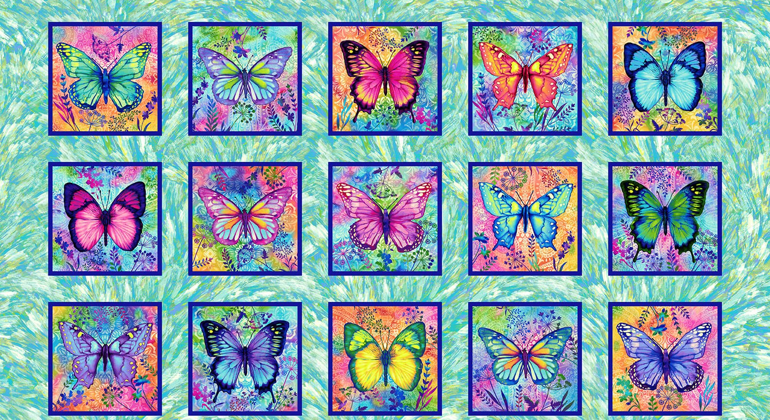Butterfly Paradise - Butterfly Blocks (Remnant: 1-1/2 yds)