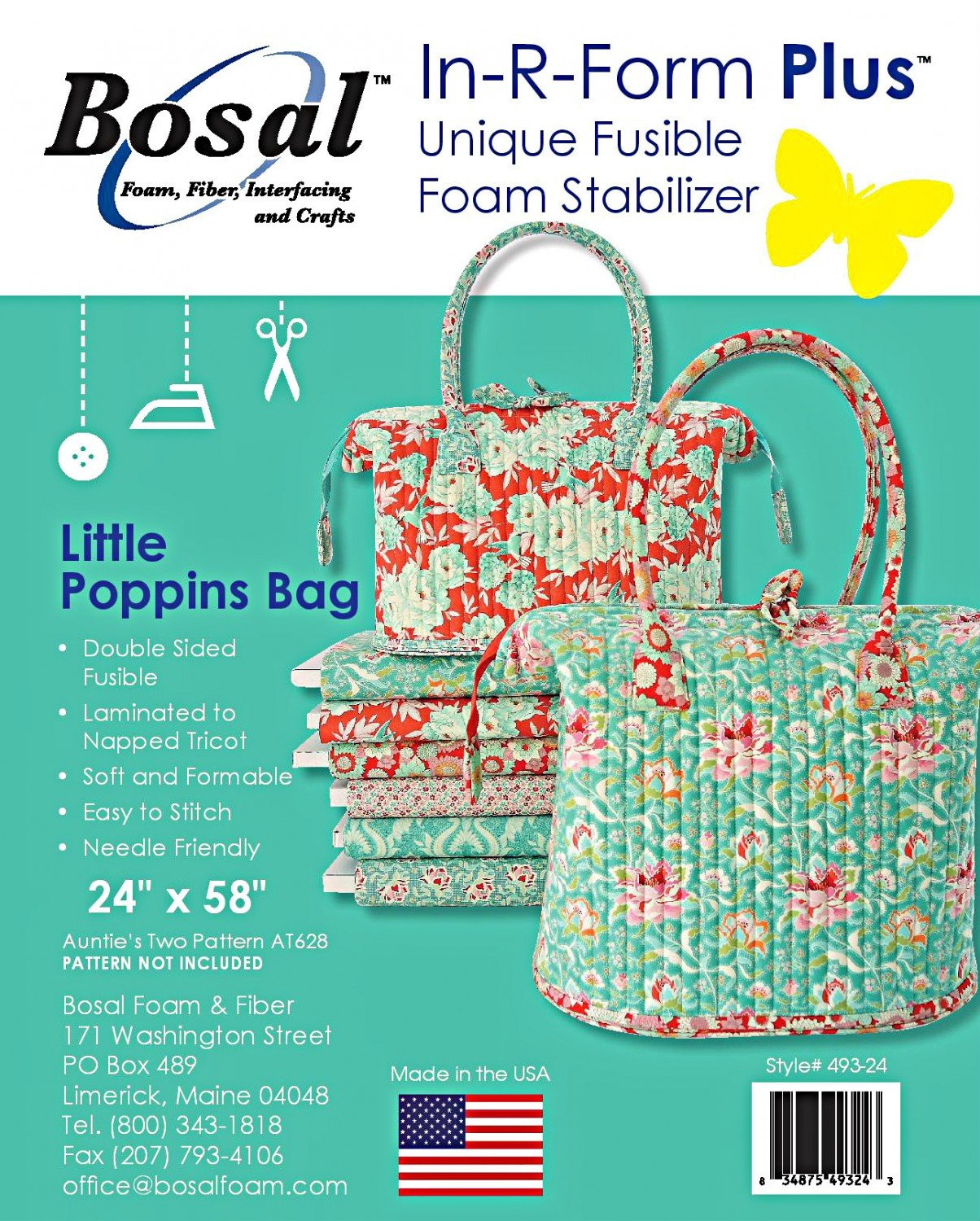 In-R-Form Plus Double Sided Fusible Foam Stabilizer - Little Poppins Bag