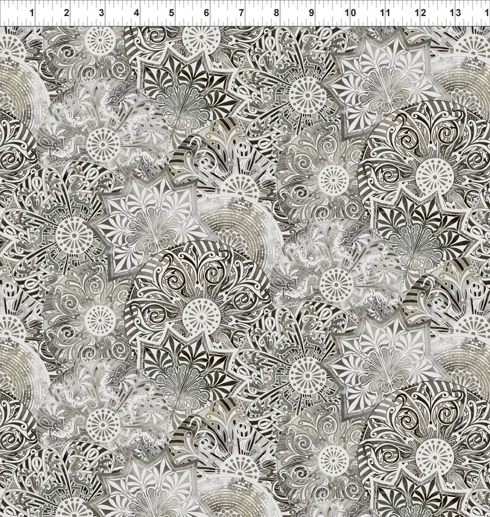 Bohemian Manor II - Medallion Collage - Taupe