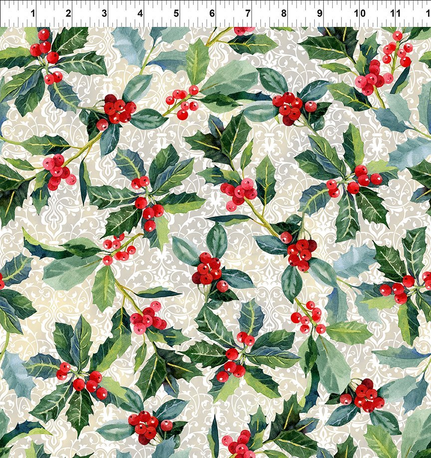 Winter Around the World - Holly - Cream