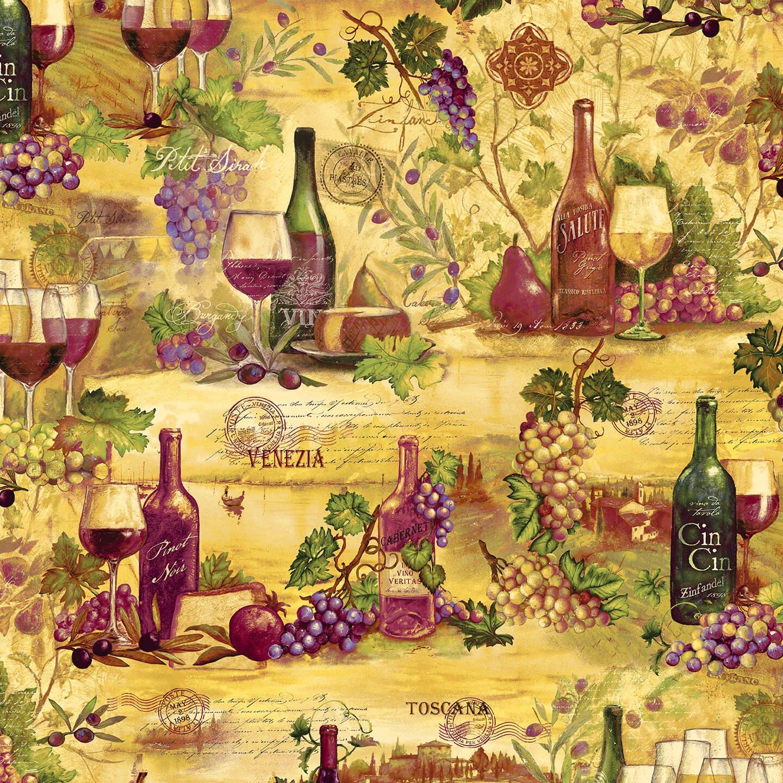 Vineyard - Wine Collage (Remnant: 1-2/3 yds)