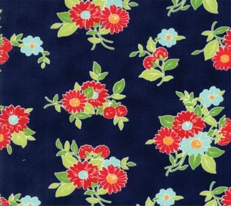 The Good Life - Floral - Navy