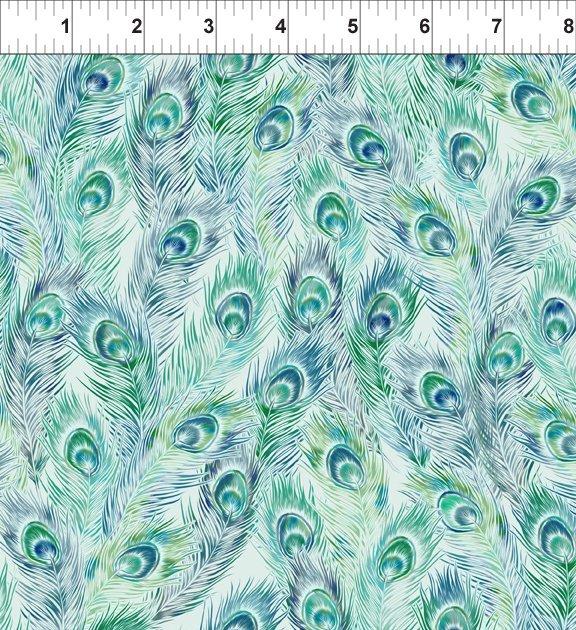 Bohemian Manor II - Feathers - Teal