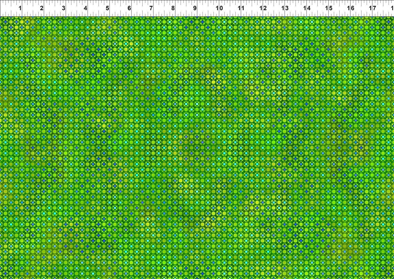 Unusual Garden II - Dots - Green