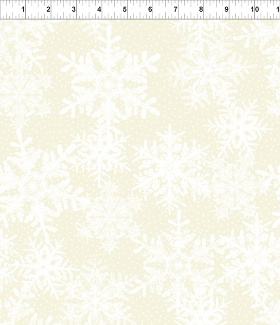 Winter Twist - Snowflakes - Cream