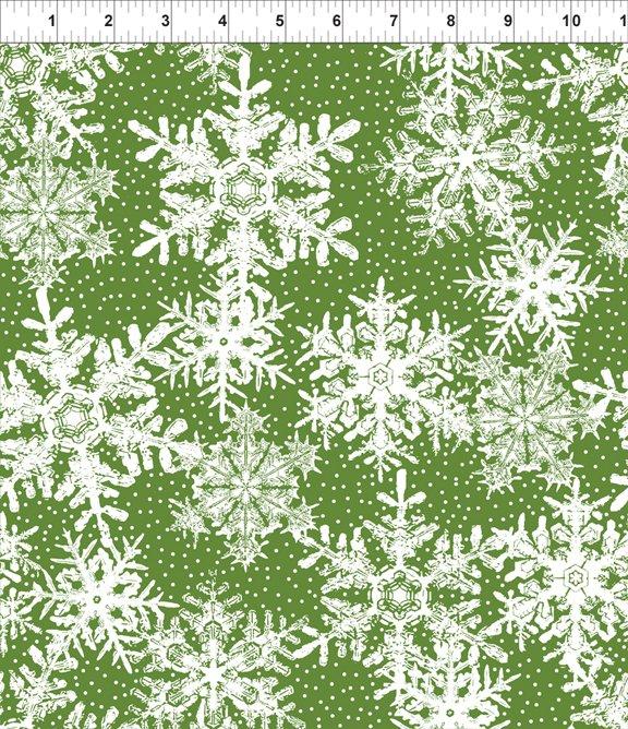 Winter Twist - Snowflakes - Green