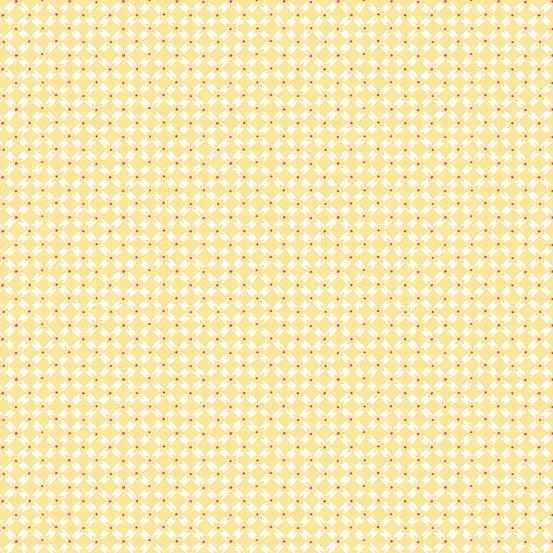 Strawberry Jam - Dainty Diamonds - Yellow (Remnant: 2 yds)