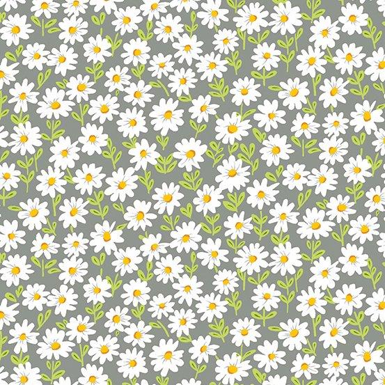 Sunny Bee - Daisies - Grey