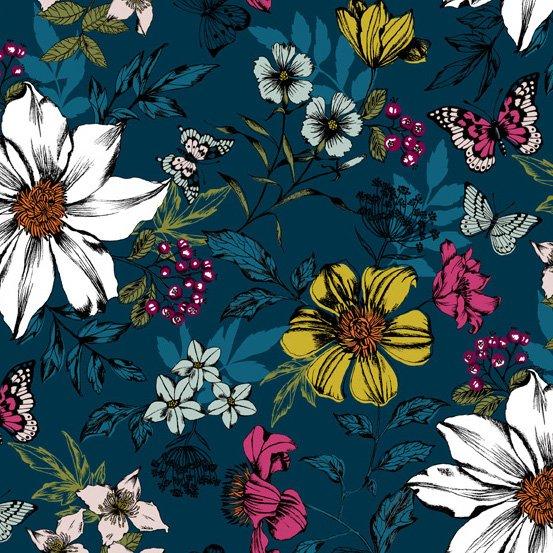 Botanica - Exotic Floral - Blue