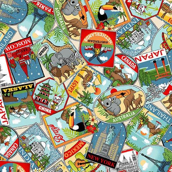 Around the World - Labels