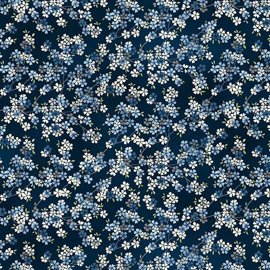 Tranquility - Cherry Branch - Black Blue