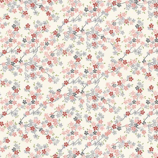 Tranquility - Cherry Branch - Cream Pink