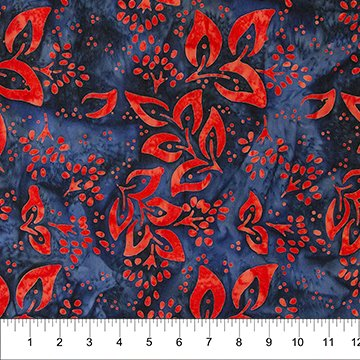 Cherry Blossoms Batiks - 80284 - Denim Red