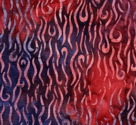 Red Sky Batik 8104-0111 (Remnant: 2-1/4 yds)