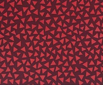 Color Blocking Batiks - Triangles - Garnet