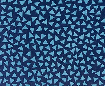 Color Blocking Batiks - Triangles - Sapphire