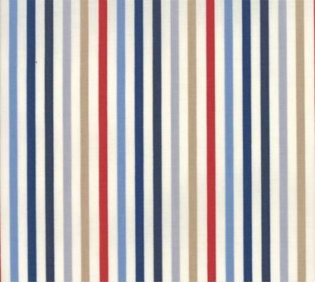 Essentially Yours - Stripe - Multi Blue