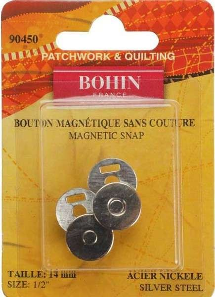 Magnetic Snap - Silver - 1/2