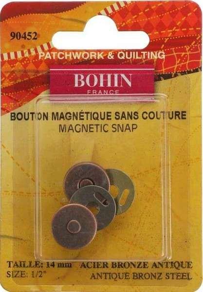 Magnetic Snap - Bronze - 1/2