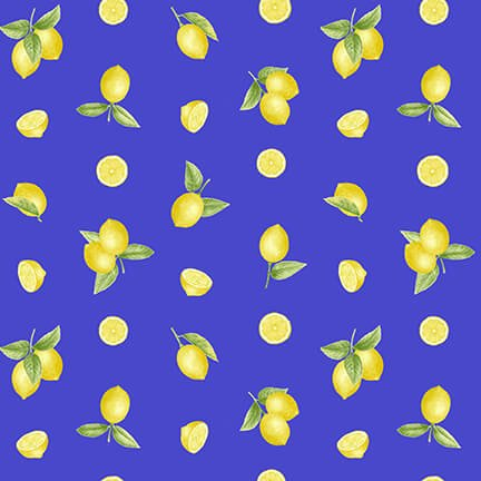 Just Lemons - Small Tossed Lemons - Blue