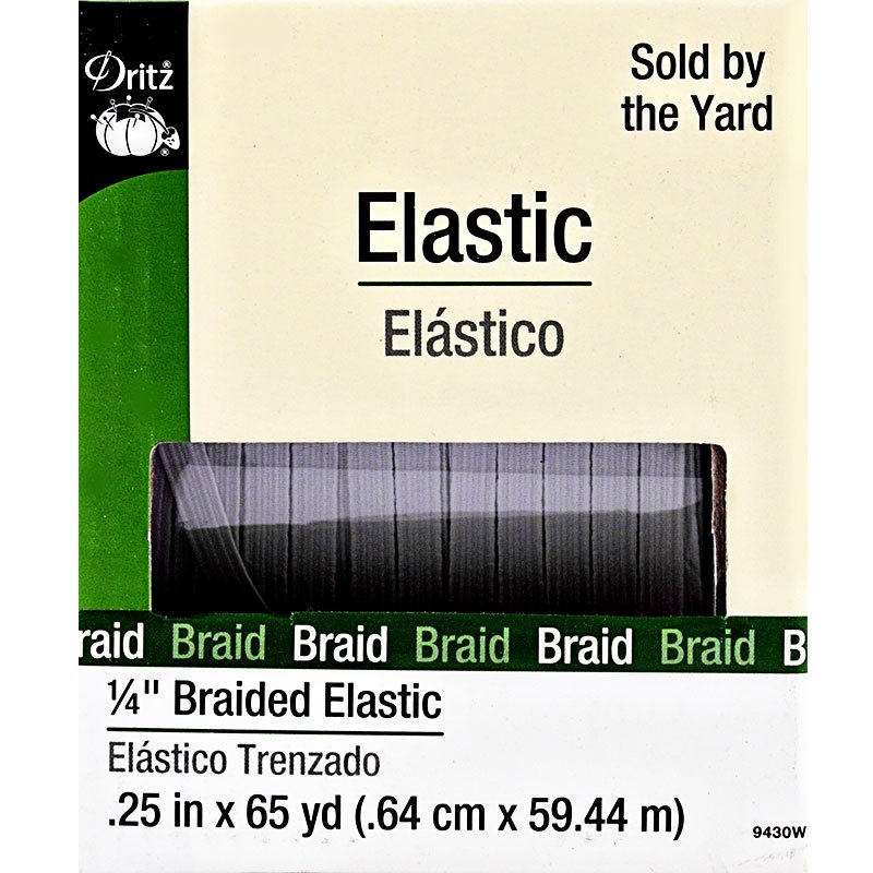 Dritz White Braided Elastic - 1/4