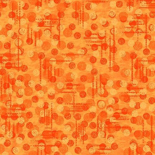 Jot Dot - Orange (Remnant: 2 yds)