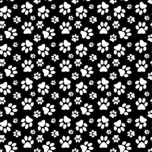 Dog Gone Fun - Paw Prints - Black