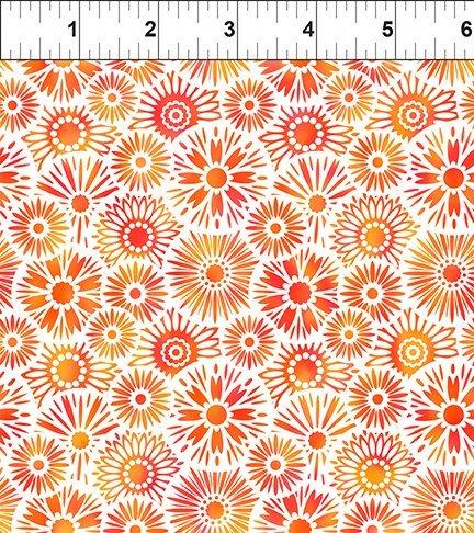 Unusual Garden II - Blooms - Orange/White