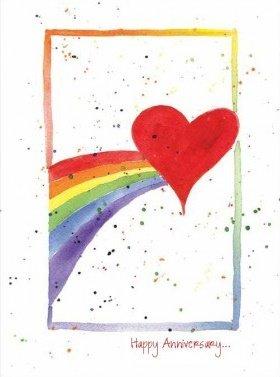 Anniversary - Rainbow & Heart