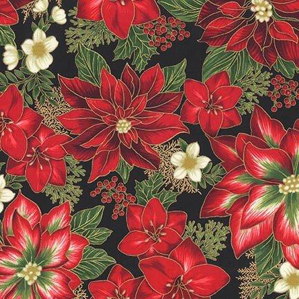 Holiday Flourish 11 - Poinsettia - Black
