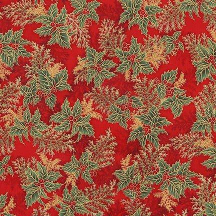 Holiday Flourish 11 - Holly - Crimson