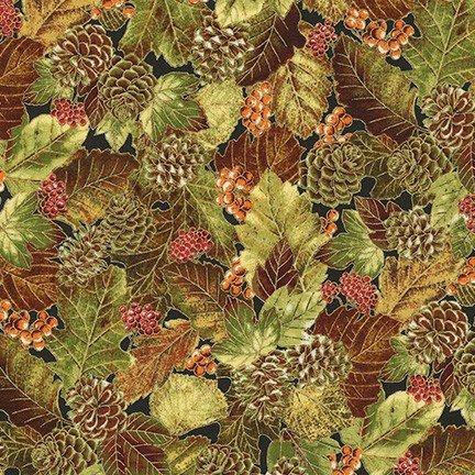 Autumn Beauties Metallic - Leaves & Pinecones - Autumn