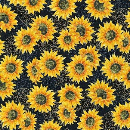 Autumn Beauties Metallic - Sunflowers - Sunflower