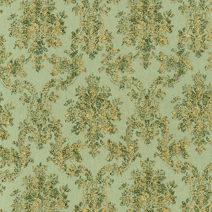Winter White - Damask - Forest
