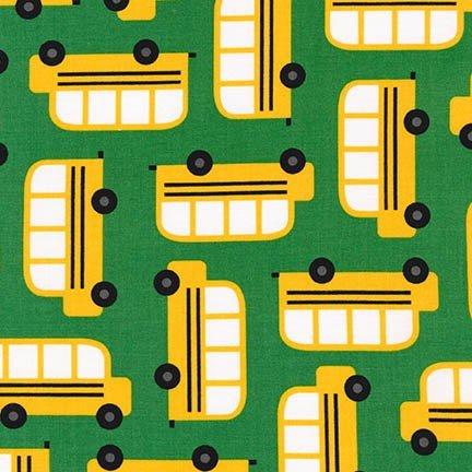 Back to School 2 - School Buses - Green
