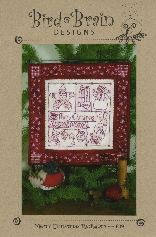Merry Christmas Redwork