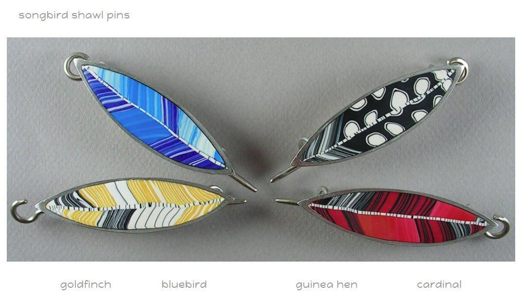 Bonnie Bishoff Songbird Shawl Pins