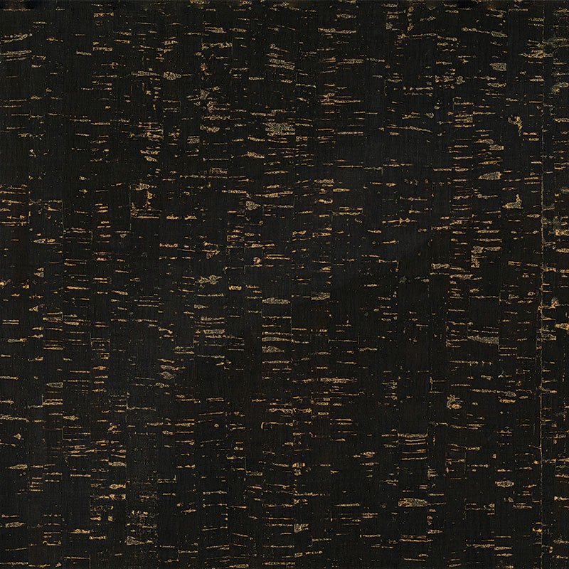 Cork Fabric - Black/Gold (18 x 15)