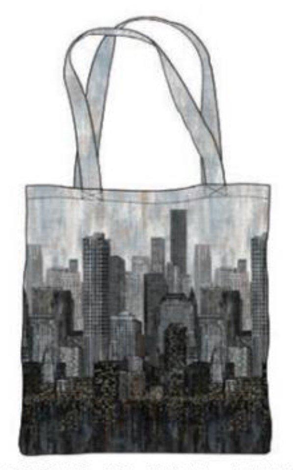 City Lights - Canvas Bag Panel
