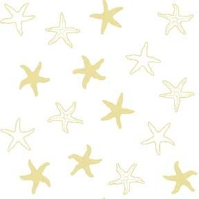 Land-Sea-Sky - Starfish - Beige on White